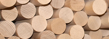 Rundstäbe aus Holz