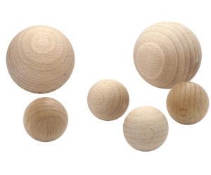 Holzkugeln ohne Bohrung aus Buche naturbelassen