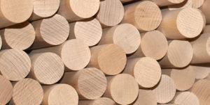 Holz Rundstäbe aus Buche 60mm